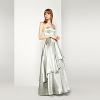 Silver The Polaris Dress | Fame & Partners USA