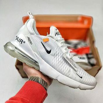 OFF WHITE x Nike Air Max 27 White AH8050-100 Sport Running Shoes - Best Online Sale