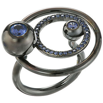Eddie Borgo Voyager Ring Gunmetal - Zappos.com Free Shipping BOTH Ways
