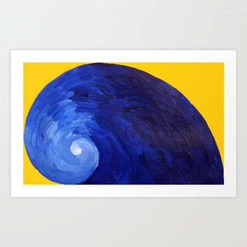 Pacific blue Art Print by JR