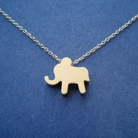 Cute Baby Gold, Elephant Pendent, Gold Filled Chain, Necklace