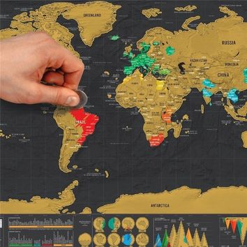 Travel Edition Scratch Off World Map