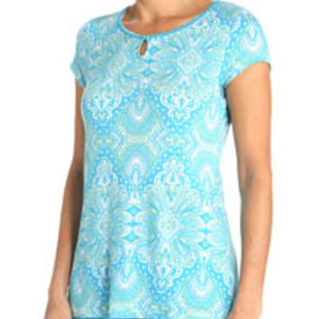 Jockey 336951 Enchanted Spring Printed Flowy Top