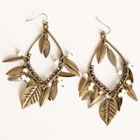 Don't Fall Behind Leaf Earrings - $12.00 : ThreadSence.com, Your Spot For Indie Clothing & Indie Urban Culture