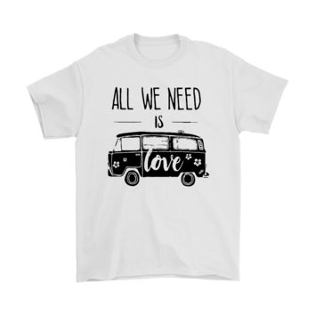 KUYOU All We Need Is Love Vans Volkswagen Shirts