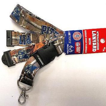 Pittsburgh Panthers PITT CAMO RR Deluxe 2-sided Lanyard Keychain University of