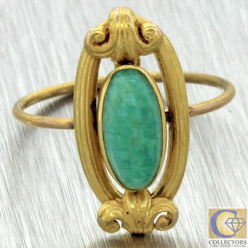 1880s Antique Victorian 14k Yellow Gold Turquoise Gleur de Lis Cocktail Ring