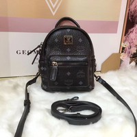 MCM Women Casual School Bag Cowhide Leather Backpack