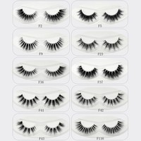 Focallure Crystal Invisibl 3D Mink Lashes Transparent False Eyelashes Thick Natural Long Fake Eye Lashes Makeup 10Styles 1 Pair