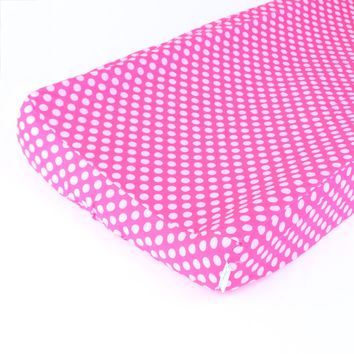 Changing Pad Cover | Pink Confection Dots