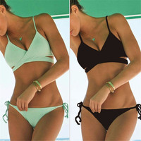 New 1PC Women Push Up Padded Bra Bandage Bikini Set Swimsuit Triangle Swimwear Bathing Suit