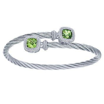 Gabriel Peridot Bangle Cable Bracelet