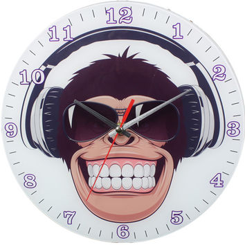 happy monkey wall clock Case of 12
