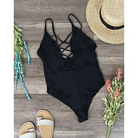 Dippin' Daisy's - Seamless Caged Front One Piece - More Colors