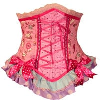 Hello Kitty Gumball waist cincher corset by kawaiiparlor on Etsy