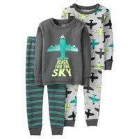 Toddler Boys' 4 Piece Reach For The Sky Cotton PJ Set - Just One You™Made by Carter's®