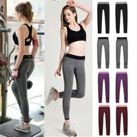 Womens Exercise Leggings Running Yoga Sports Fitness Gym Stretch Pants Trousers = 1933354244