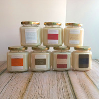 8oz Glass Jar Fall/Holiday Collection Candle - Multiple Scents Available