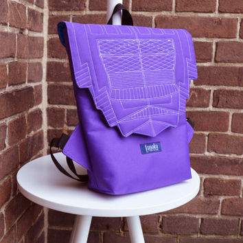 Backpack purple hipster backpack rucksack cycling bag waterproof small mini backpack Zurichtoren geometric simple minimalist backpack plum