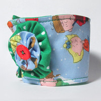 Coffee Cup Cozy / Charlie Brown Christmas / Drink Sleeve / Christmas Cup Cozy  / Snoopy / Coffee Cozy / Cup Cozies / Christmas / Polka Dots