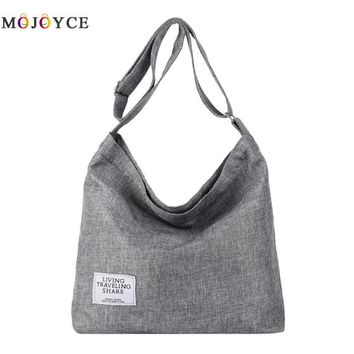 Canvas Shoulder Bags Women Girls Totes Large Capacity Casual Messenger Bags Handbags Crossbody Bag for Women