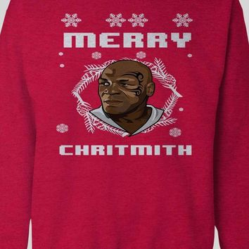 MIKE TYSON MERRY CHRITHMITH CHRISTMAS PARODY SWEATER