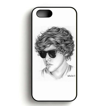 One Direction Harry Styles Art Pencil iPhone 5, iPhone 5s and iPhone 5S Gold case