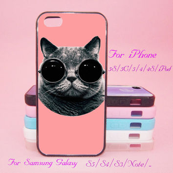 Cat sunglass,iPod Touch 5,iPad 2/3/4,iPad mini,iPad Air,iPhone 5s/ 5c / 5 /4S/4 , Galaxy S3/S4/S5/S3 mini/S4 mini/S4 active/Note
