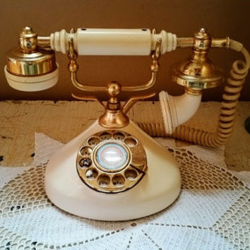 Vintage French Phone Working Rotary Telephone Regal French Model Teleconcepts Inc