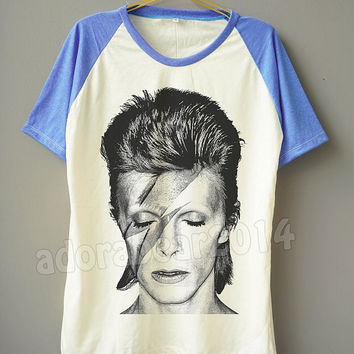David Bowie T-Shirt Ziggy Stardust T-Shirt Rock Tee Shirt Short Sleeve Shirt Short Baseball Shirt Unisex T-Shirt Women T-Shirt Men T-Shirt