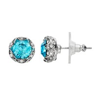 Juicy Couture Stud Earrings (Blue)
