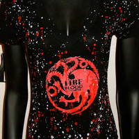 DiY Game of Thrones House of Targaryen Top You choose the size
