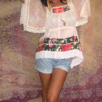 CUSTOM Made to Order LOVE Vintage Apron Top Hippie Ethnic Tunic