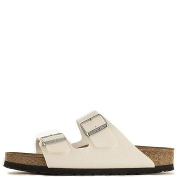Birkenstock for Women: Narrow Arizona Soft Footbed Galaxy White Sandals