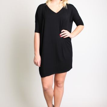 Piko 1988 V-Neck Short Sleeve Dress