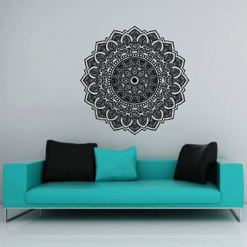 2016 New Arrivals Wall Decal Vinyl Sticker Namaste Om Mandala Ornament Moroccan Pattern Yoga Classic Wall stickers mural D-156