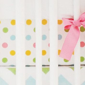 Fitted Crib Sheet | Colorful Polka Dots