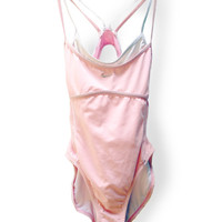 NIKE Swimsuit 90s Pastel Pink One Piece Bathing Suit!  Baby Spice Sporty Spice Swim Costume