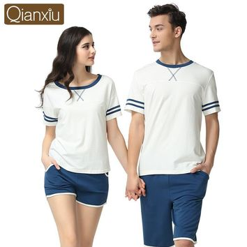 New summer Lovers fashion pajamas couple leisure suit color Home Furnishing female modal cotton high quality pajamas 1659