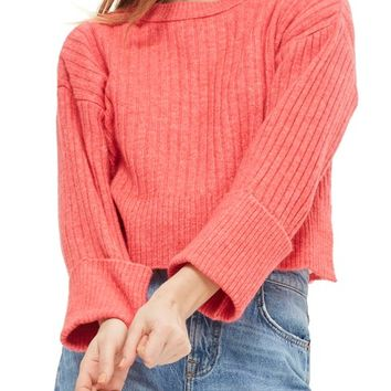 Topshop Rib Knit Crop Sweater | Nordstrom
