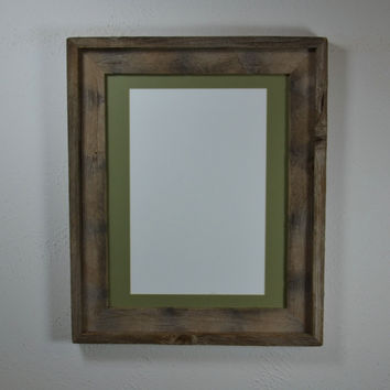 Picture frame 11x14 with mat for from barnwood4u | Reclaimed wood