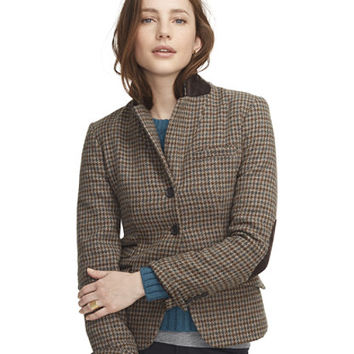 Women's Signature Wool Hacking Jacket, Houndstooth at L.L.Bean