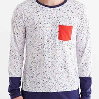 Printed Raglan-Sleeve Pocket Tee-