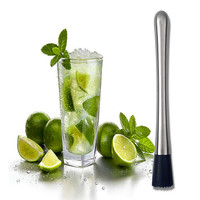 Stainless steel lemon metal masher Stir bar bartenders tools masher Cocktail Muddler