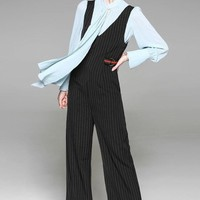 Blouse and Overall Pants Set