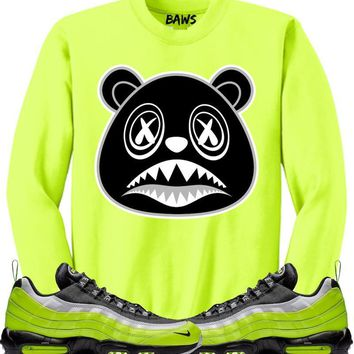 OREO BAWS Sneaker Crewneck Sweater - Nike Air Max 95 Volt Glow