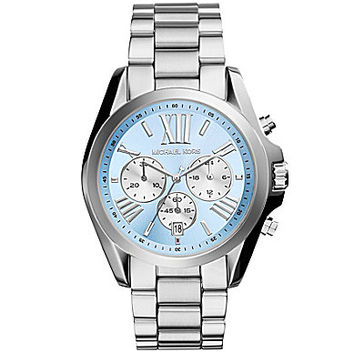 Michael Kors Bradshaw Light Blue Dial Chronograph Watch