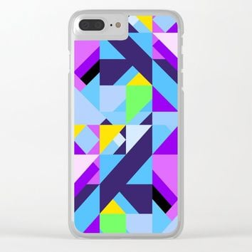 Geometric XIX Clear iPhone Case by tmarchev