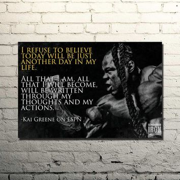 Kai Greene Quoted Silk Poster