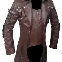 Goth Matrix Trench Coat Steampunk Gothic Brown - Best Selling of Month